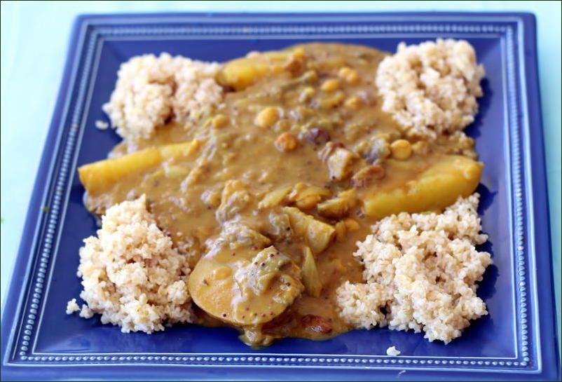 Curry végétarien au lait de coco en cocotte minute (vegan)