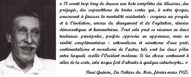 René Guénon - Réponse à l'enquête sur Les Appels de l'Orient.