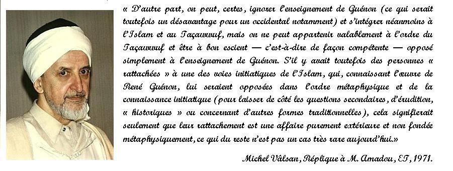 Michel Vâlsan - Réplique à M. Robert Amadou.