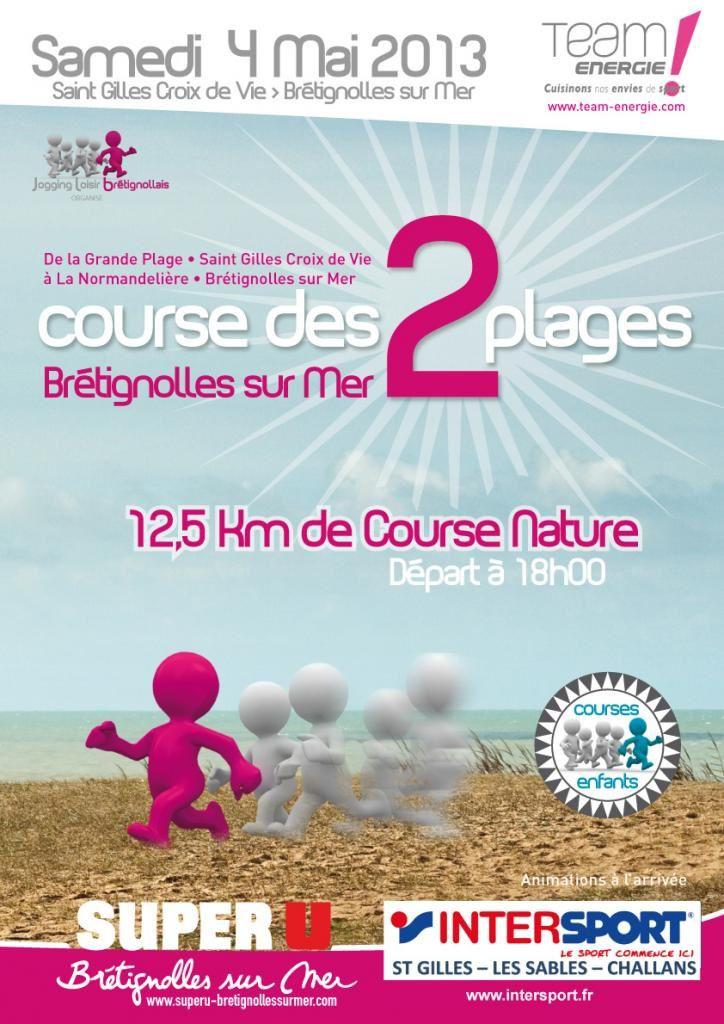 La course des 2 plages à Brétignolles le 4 mai