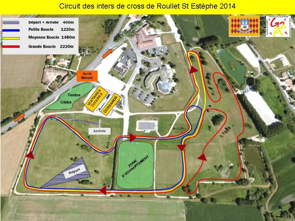 Le circuit des inters de cross de Roullet St Estèphe