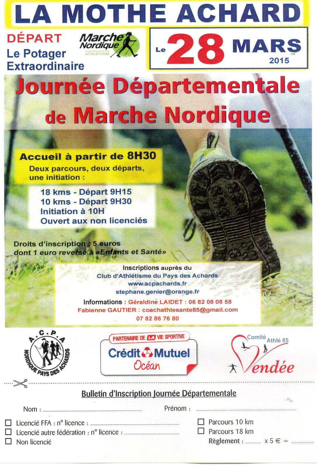 Journée départementale de marche nordique à La Mothe Achard