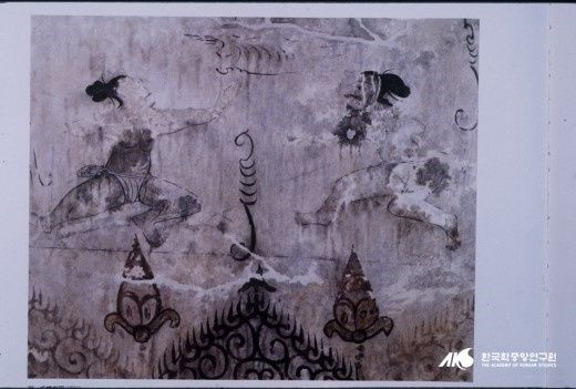la peinture murale dessinée à l'époque Koguryo (du premier siècle avant J.-C. au septième siècle après J.-C.)