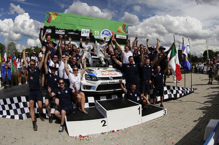 Podium amplement mérité pour le duo des VW, rejoint pour la première fois par Hyundai grâce à une course raisonnable de Neuville.