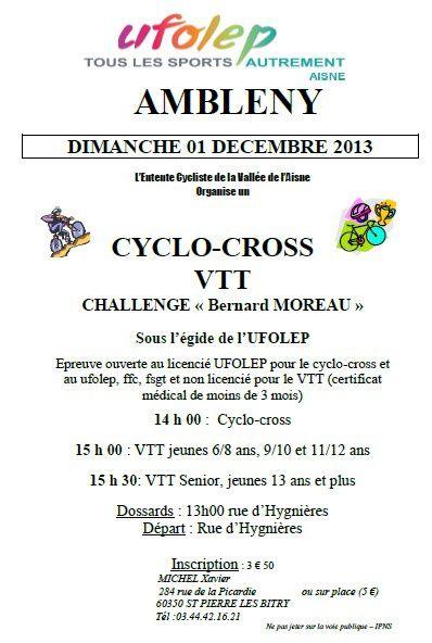 Cyclo-cross VTT d'Ambleny du 01/12/13