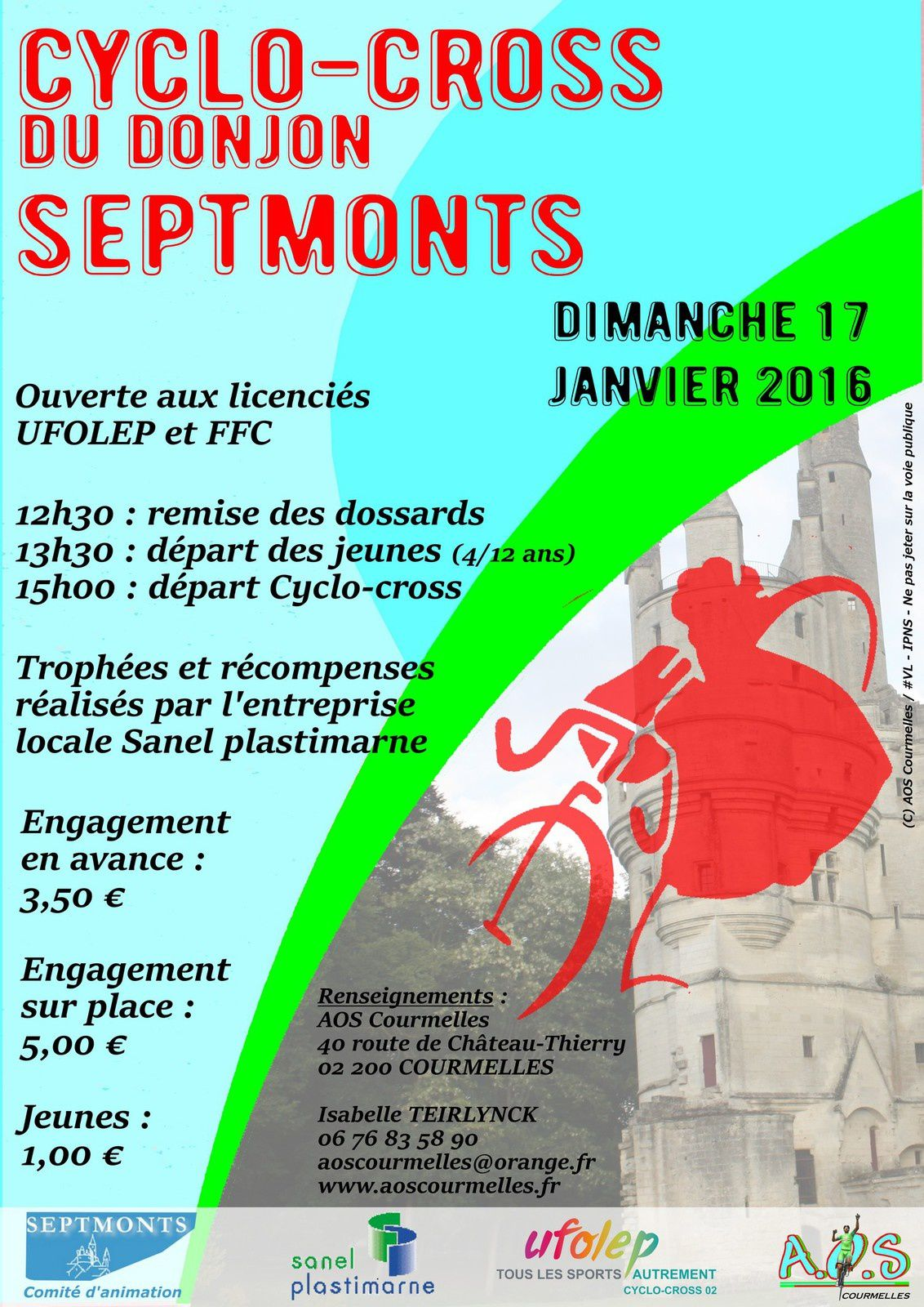 Cyclo-cross de SEPTMONTS du 17/01/16