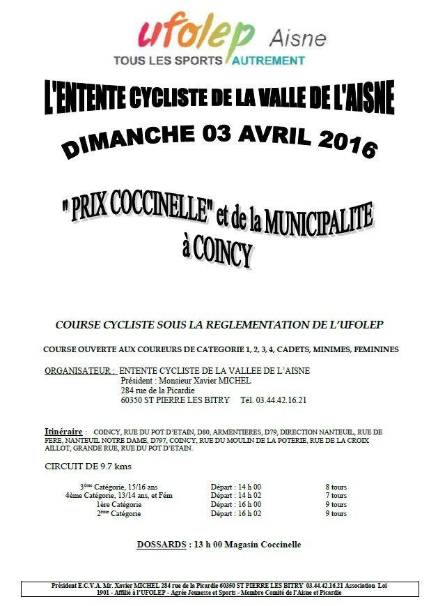 'Prix Coccinelle' - COINCY - 03/04/16