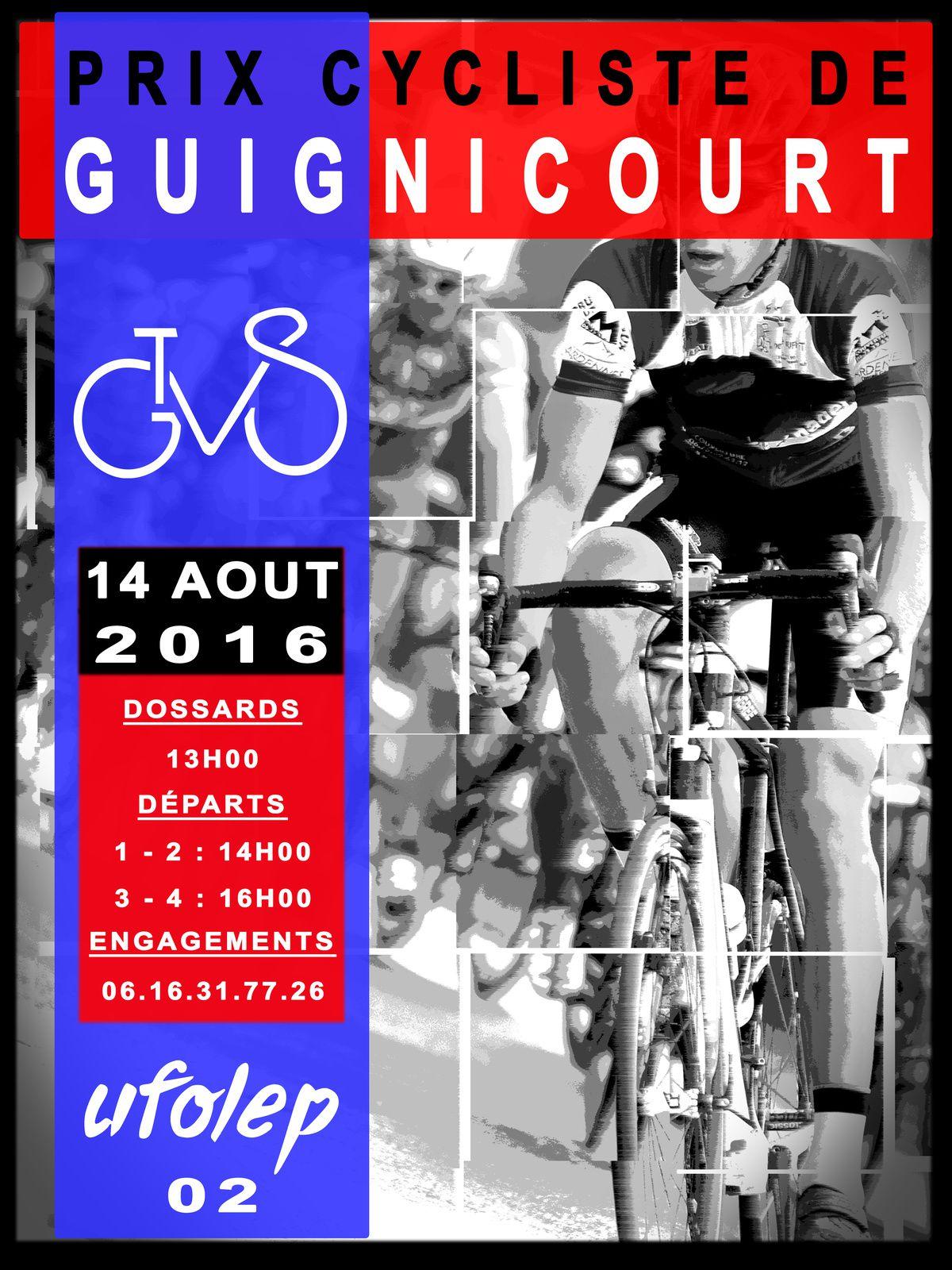 Course de GUIGNICOURT du 14/08/16