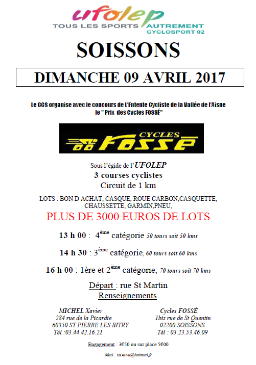 [Cyclosport] Course de SOISSONS du 09/04/17
