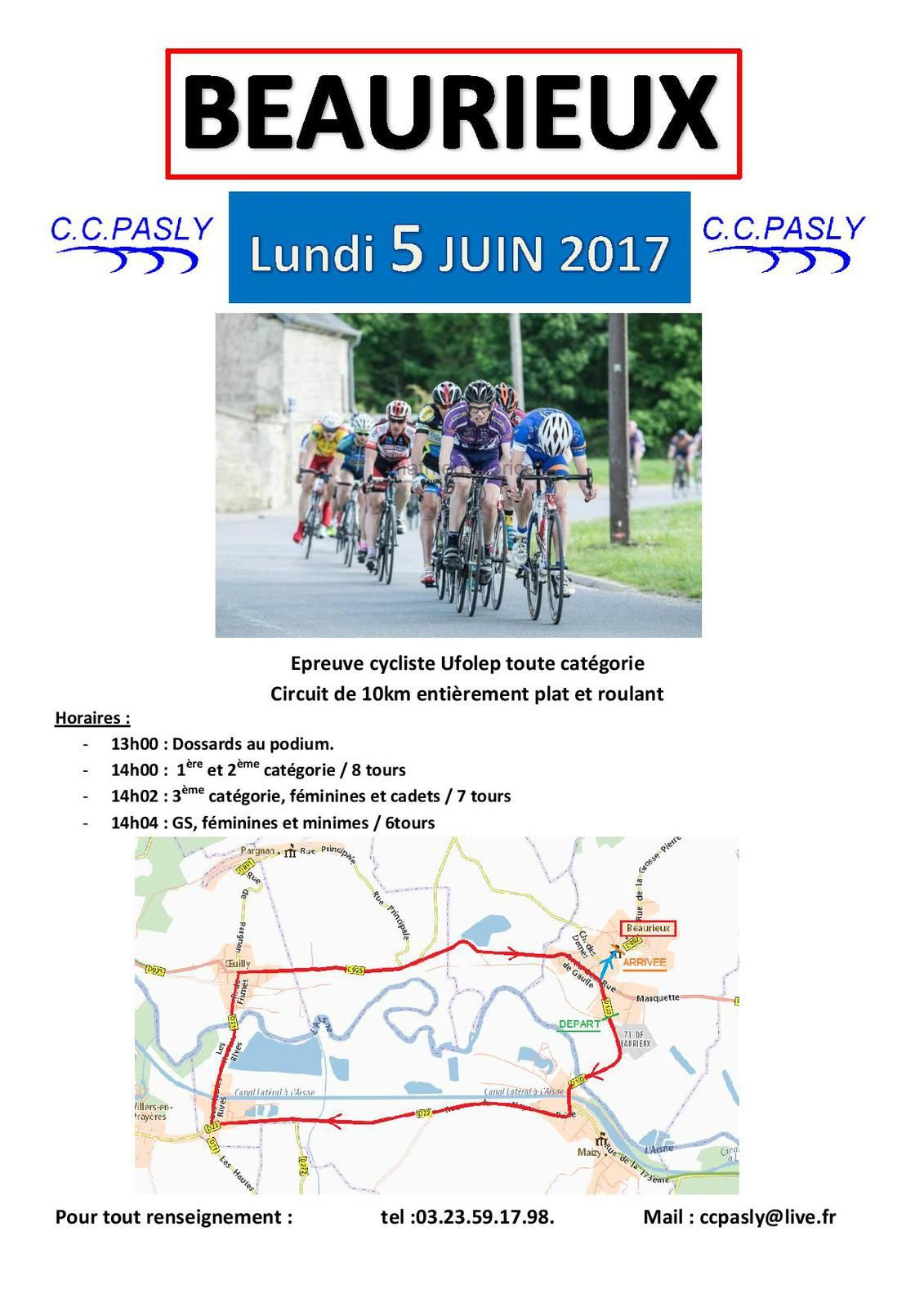 [Cyclosport] Course de BEAURIEUX du 05/06/17