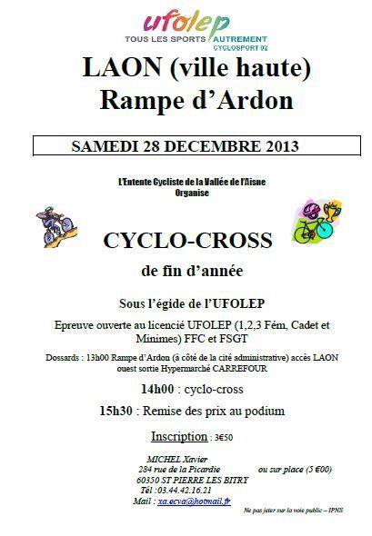 Cyclo-cross de Laon du 28/12/13