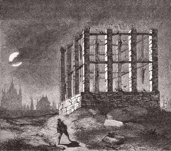 Visitez le gibet de Montfaucon disparu en 1760