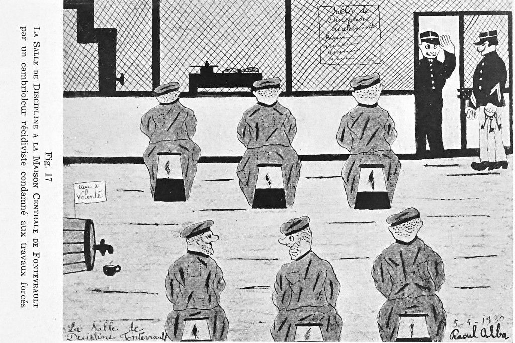L'art en prison. Dessins de Criminels. Par J. Lacassagne et J. Couty. 1939. Albums du crocodile? Septième année. N° 1. Janvier – février 1939. Avec 28 illustrations monochromes et 2 en couleur.