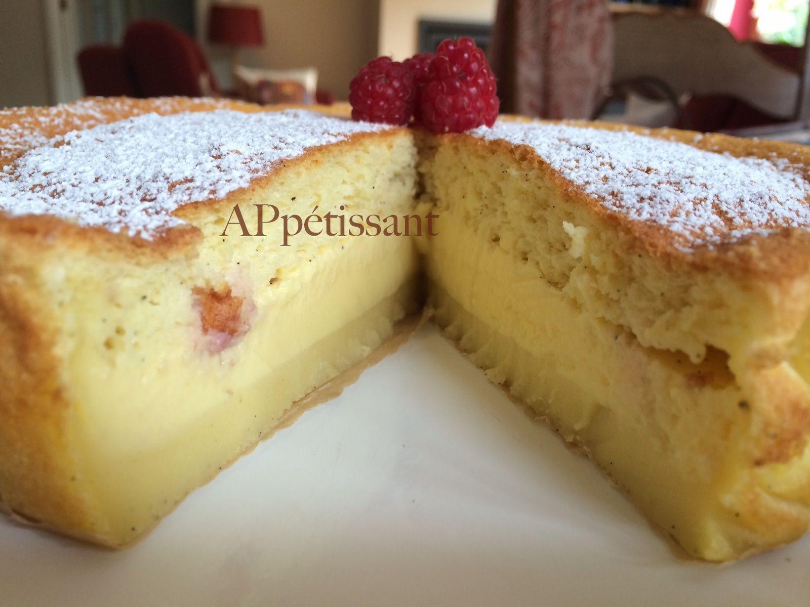 LE gâteau magique nature ou aux framboises