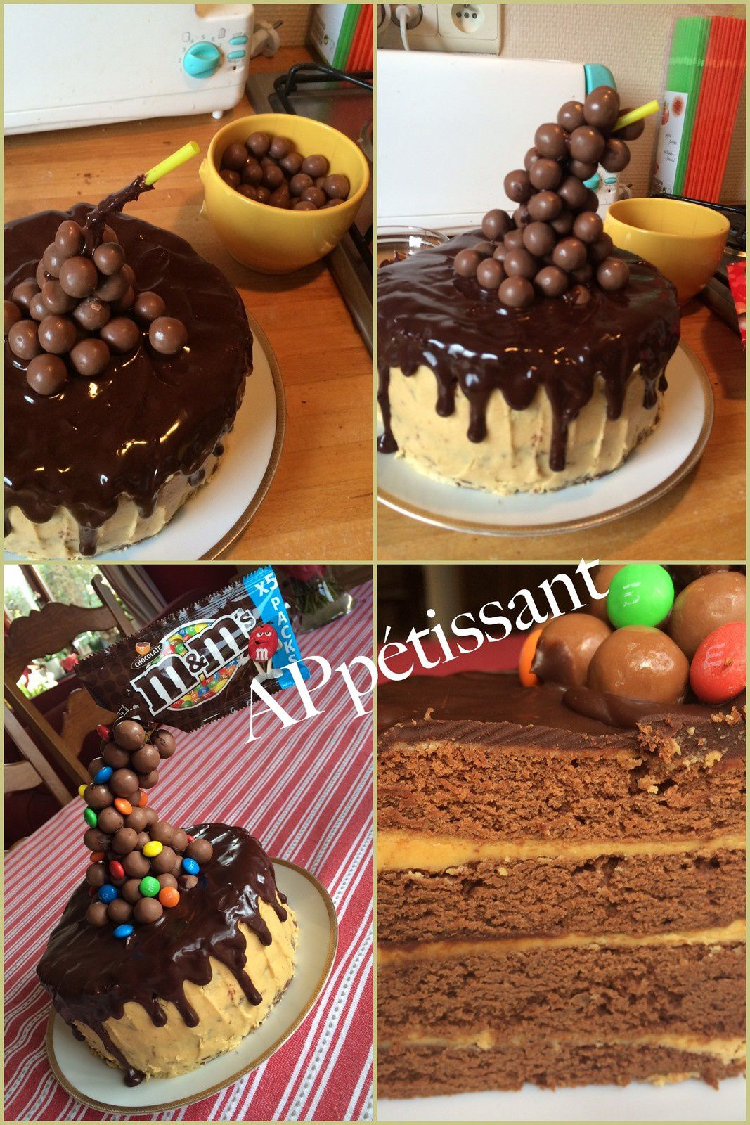 Gravity Cake - Layer Cake Chocolat-Caramel