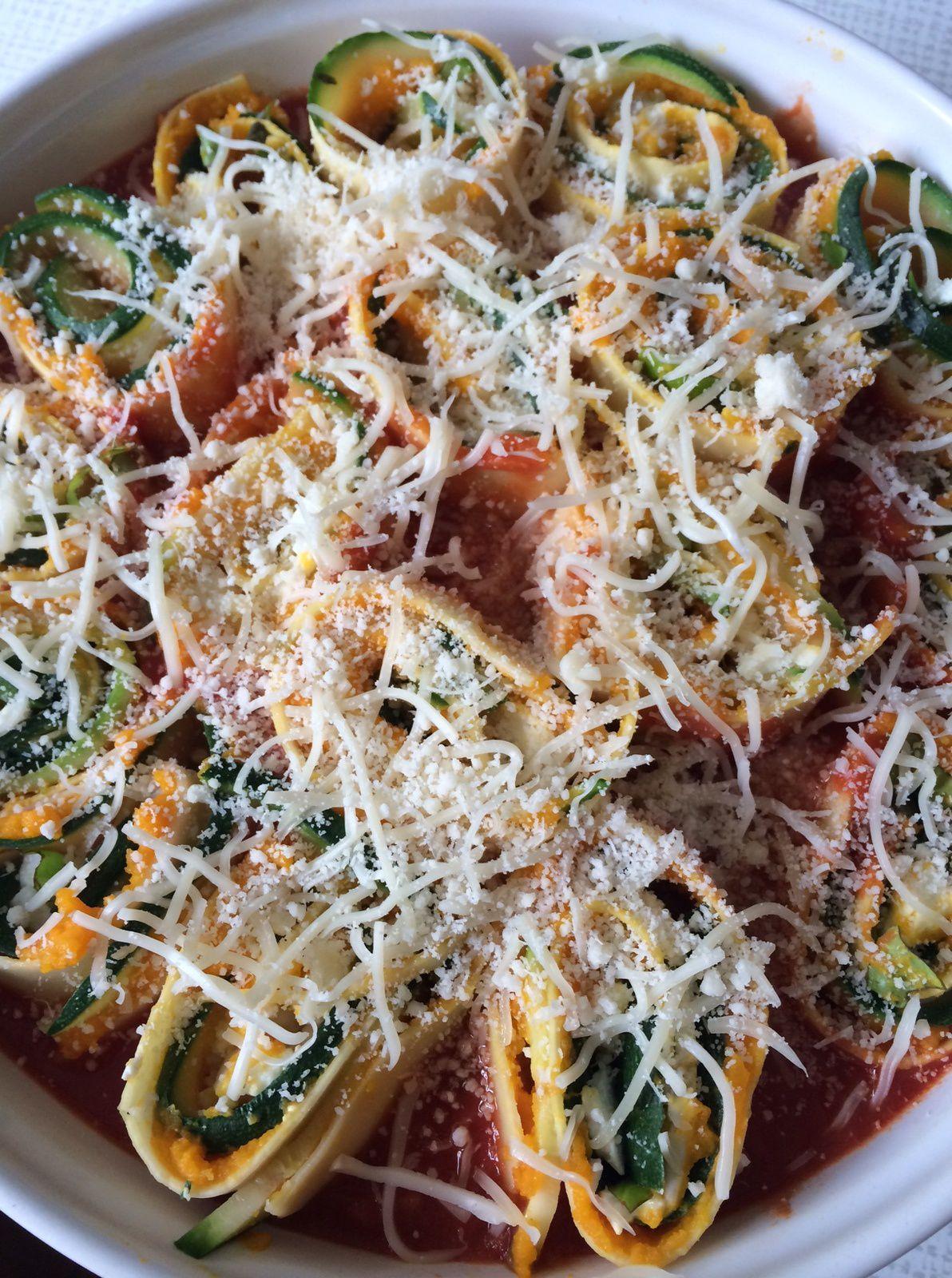 Rouleaux de lasagne aux légumes