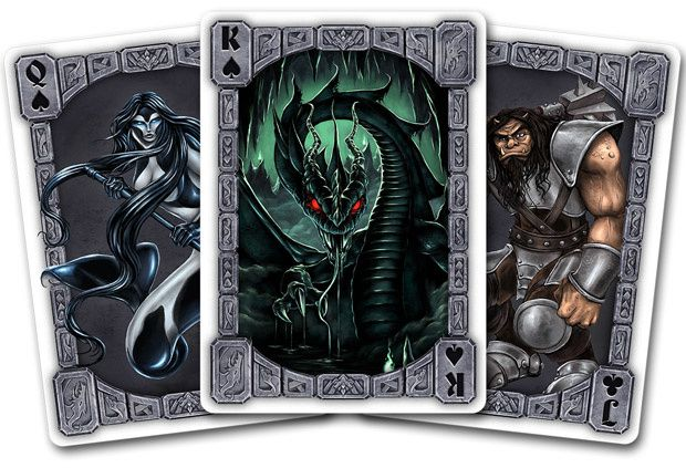 "(ci-dessus, les ""Creature Cards"" de Fire Mountain Games"