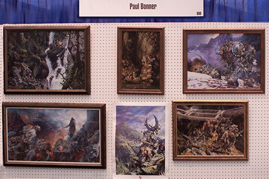 "le stand de Paul, à la convention ""Spectrum Fantastic Art Live"" de 2015"