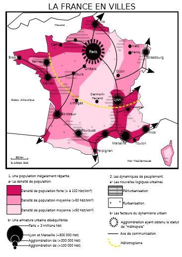 France en villes : croquis possible