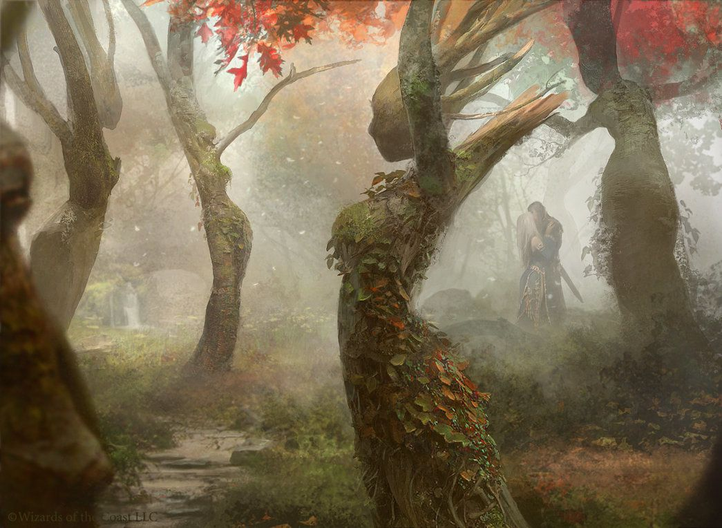Magic the Gathering: Dryad Arbor by Cryptcrawler, Deviant Art