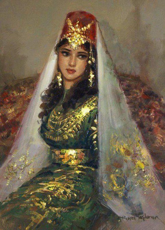 Remzi Taşkıran, né en 1961 à Adıyaman, qui peint des femmes anatoliennes revues par son imagination…