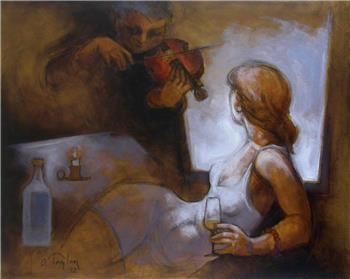 Orhan Taylan, né en 1941, dont j'aime les silhouettes tourmentées...
