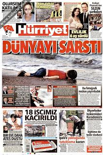 La Une du journal Hurriyet