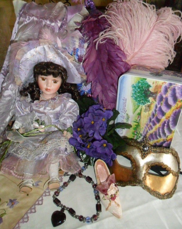 My vintage violets. Du mauve au violet