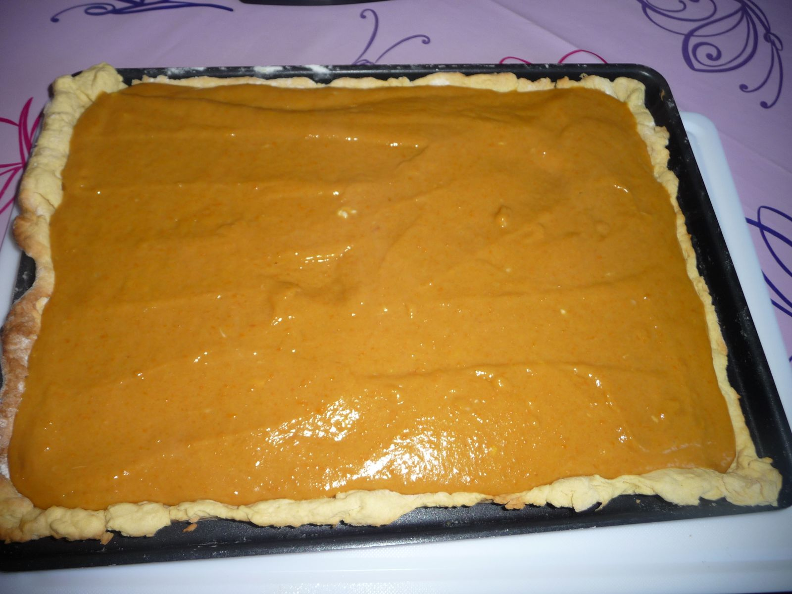 TARTE ABRICOTS MANGUES MERINGUEES !