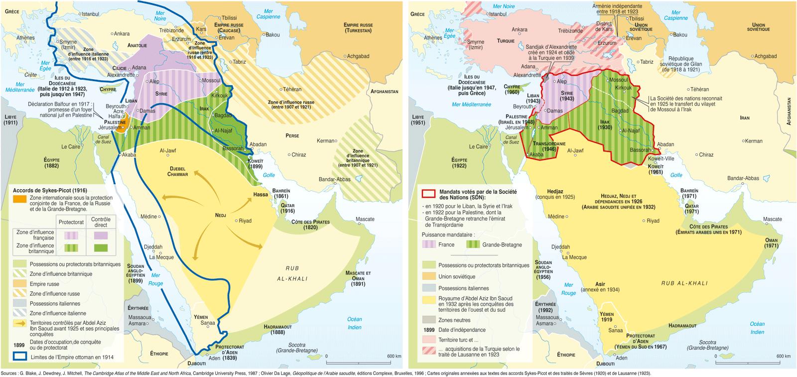 Des accords Sykes-Picot... Au Proche-Orient contemporain par Philippe Rekacewicz, avril 2003 http://www.monde-diplomatique.fr/cartes/sykes-picot