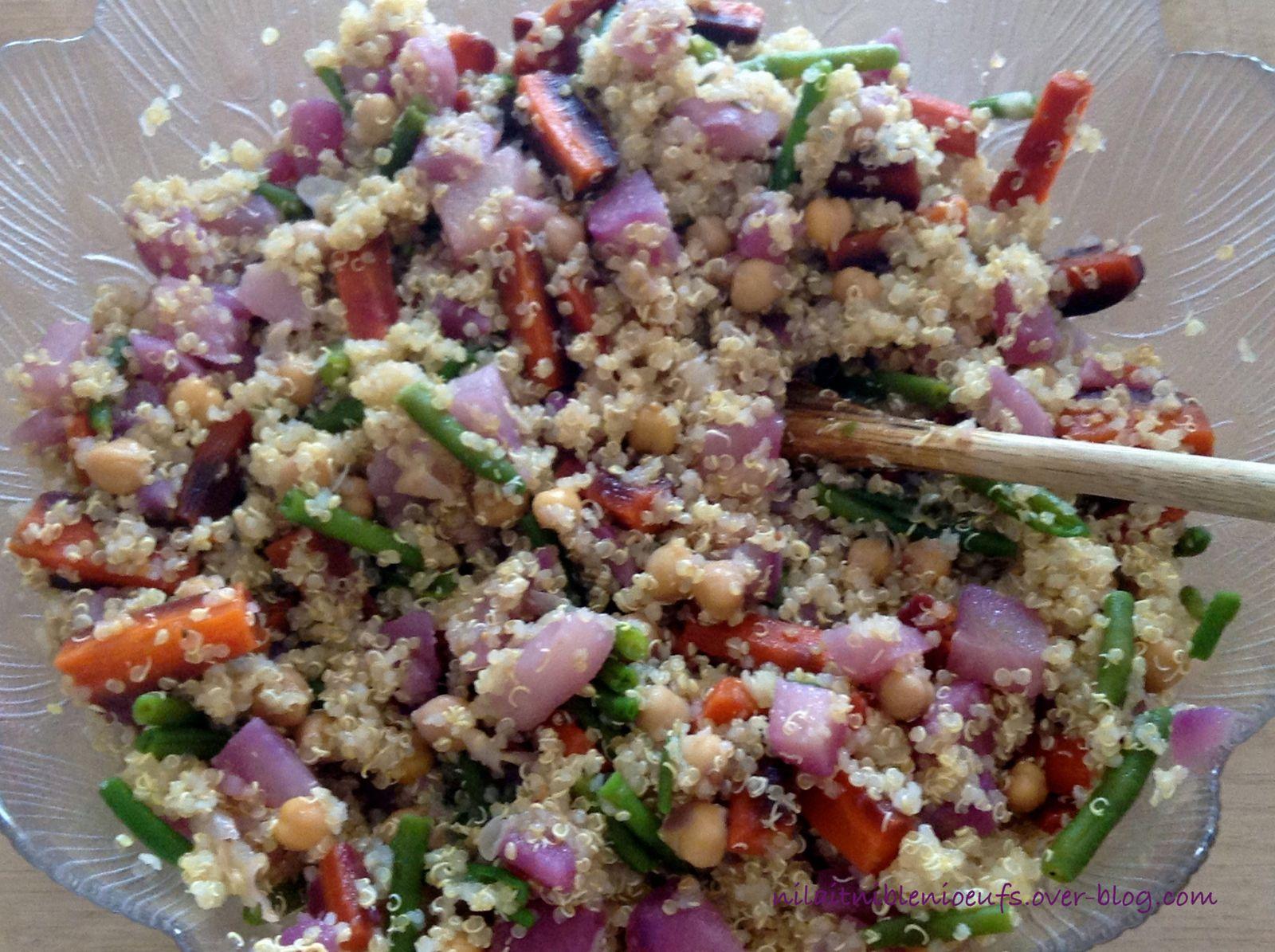 Salade de quinoa et légumes nouveaux