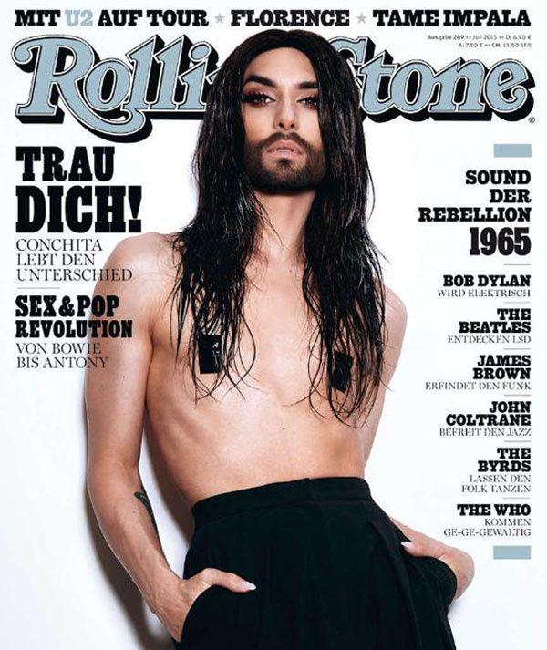 Conchita Wurst pour Rolling stone
