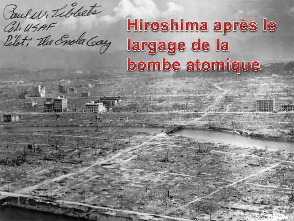 AUJOURD'HUI LE 6 AOÛT 2015 MARQUE L'ANNIVERSAIRE DE 70 ANS DE LA DESTRUCTION PAR LA BOMBE ATOMIQUE DE HIROSHIMA