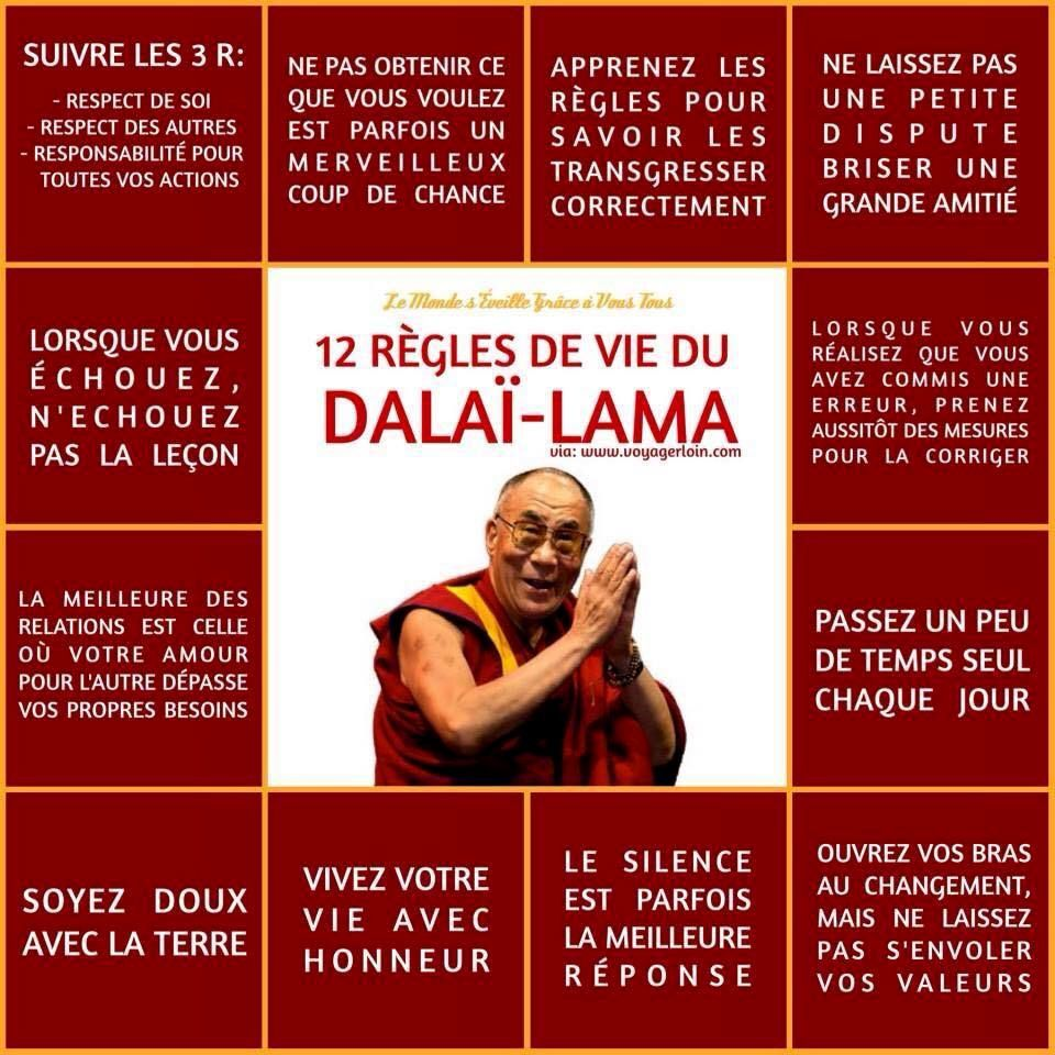 QUELQUES PAROLES DE SAGESSE DU DALAI LAMA
