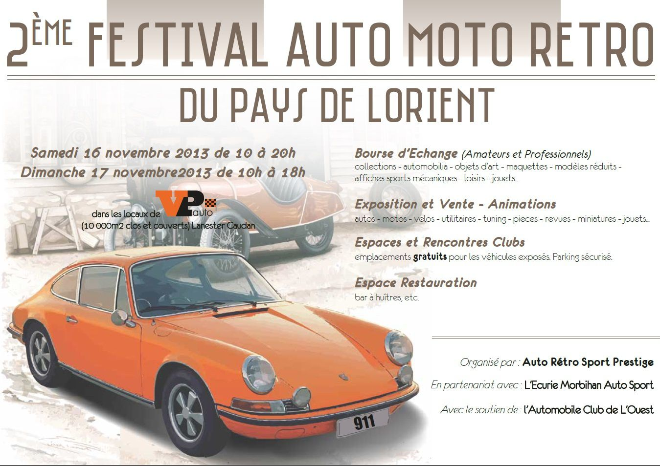 2 festival auto r tro de lorient 16 17 novembre. Black Bedroom Furniture Sets. Home Design Ideas
