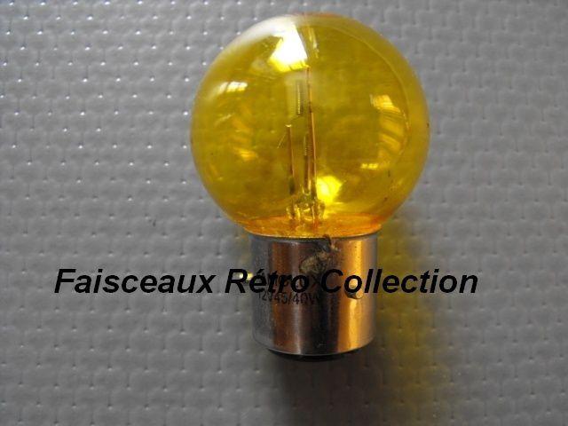 Ampoule de phare BA21D 12 V 45/40 W jaune 3 ergots = 6.80 €