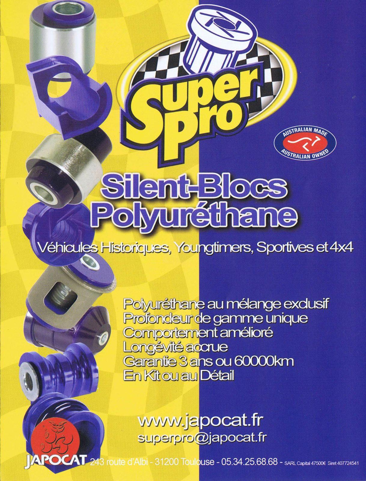 des silent-blocs en polyuréthane