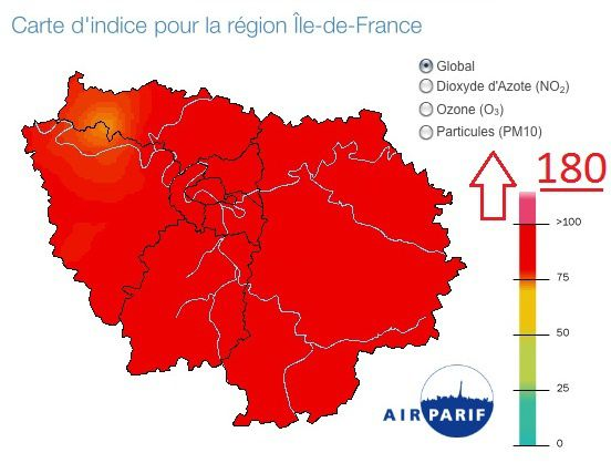 Restrictions de circulation sur Paris