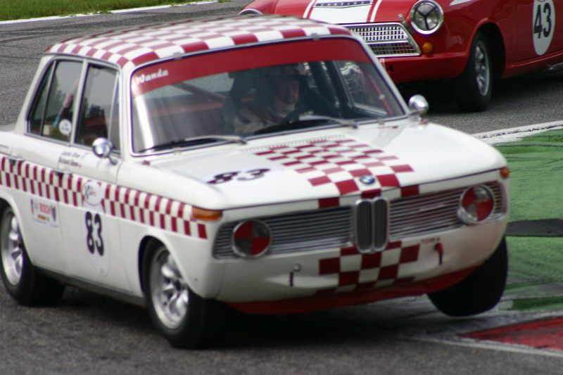 Jackie Oliver and Richard Shaw in the BMW 1800Ti/SA - http://www.sportscardigest.com/