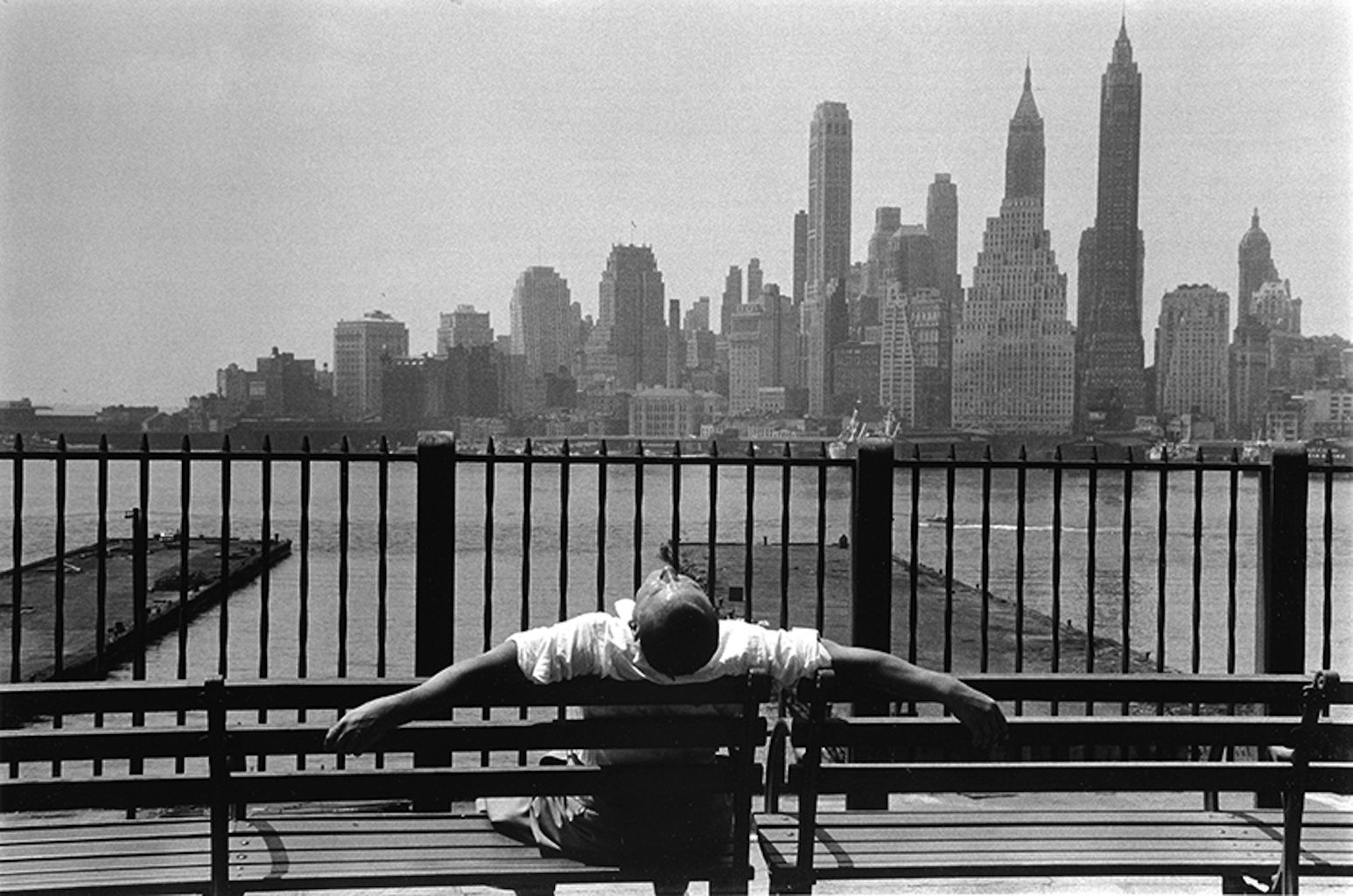 Brooklyn promenade, New York, Louis STETTNER, 1954