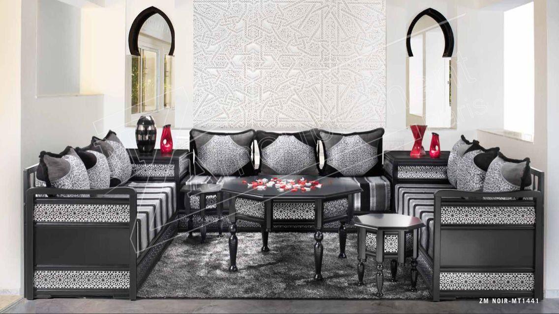 Salon Marocain Noir Et Argent Moderne -|- vinny.oleo-vegetal.info