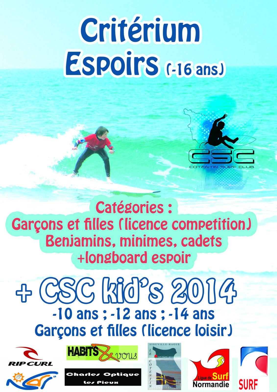 Critérium Jeunes compétiteurs et CSC kid's