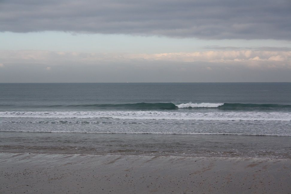 belles conditions de surf mais froid de canard