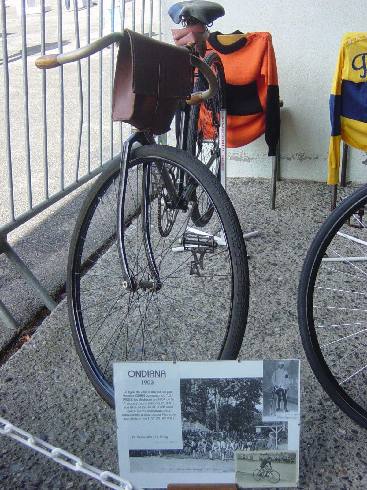 Vélo Ondiana 1903, réplique de celui utilisé par Maurice GARIN (F), vainqueur du TDF 1903.
