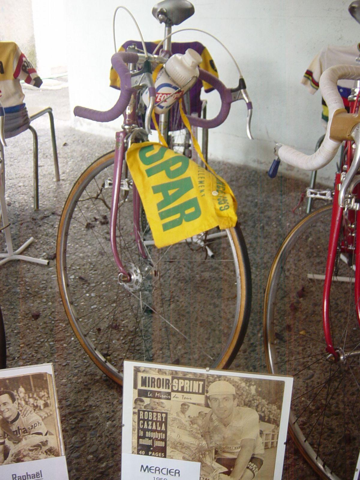 Vélo Mercier 1959, vélo qui a appartenu à Robert CAZALA (F), porteur du maillot jaune sur le TDF 1959.