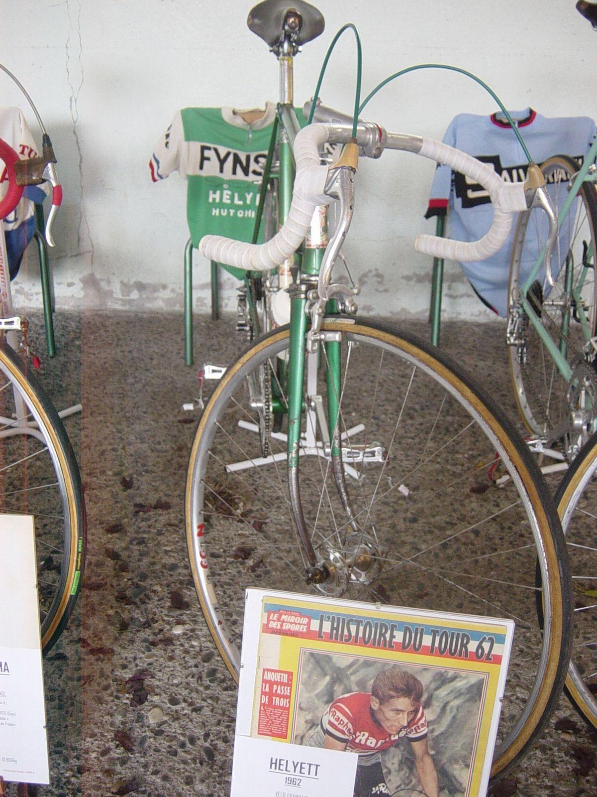 Vélo Helyett 1962, réplique du vélo utilisé par Jacques ANQUETIL (F), vainqueur des TDF 1957/61/62/63/64.