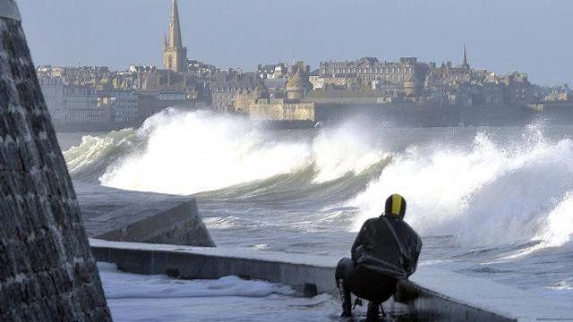 Saint-Malo, dimanche 3 février 2014 _ photo Ouest-France.