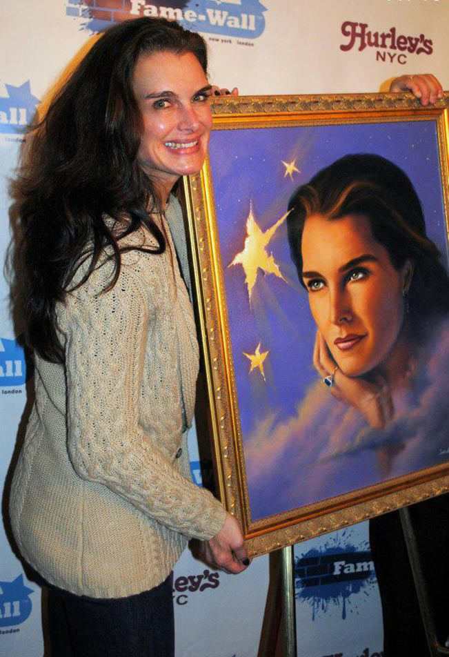 L'actrice Brooke Shields par Jim Warren