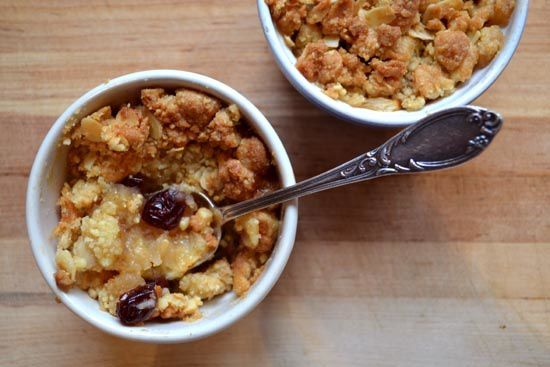 Crumble Pommes Cranberries