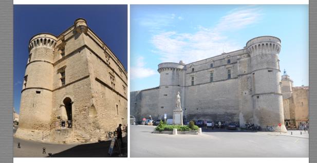 Son château renforcé, il assure au XIV° siécle la protection du village  Des remparts sont construits